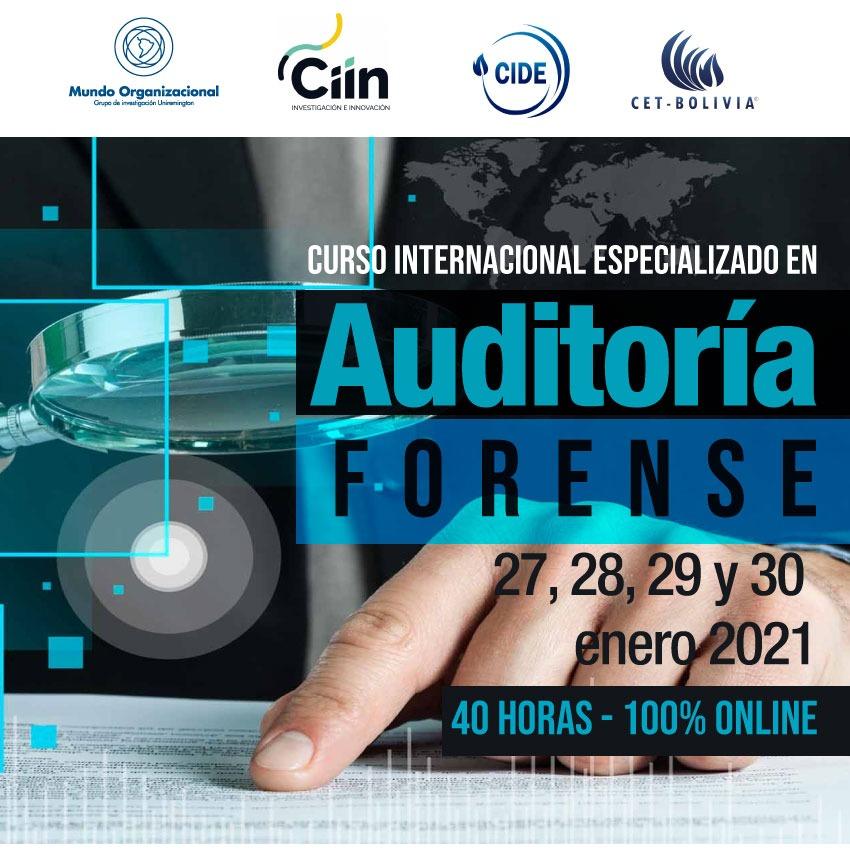 Curso Internacional Especializado en Auditoría Forense