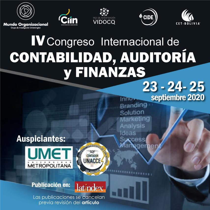 IV Congreso Internacional de Contabilidad, Auditoría y Finanzas