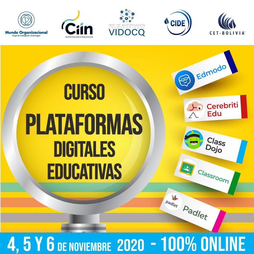 Curso Plataformas Digitales Educativas