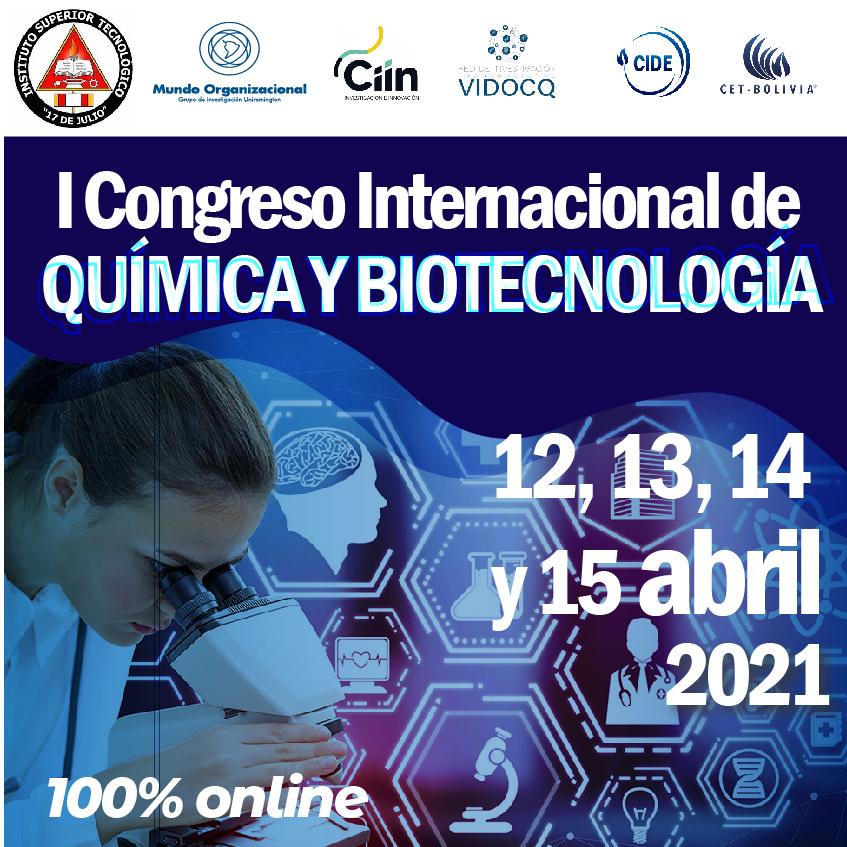 I Congreso Internacional de Química y Biotecnología